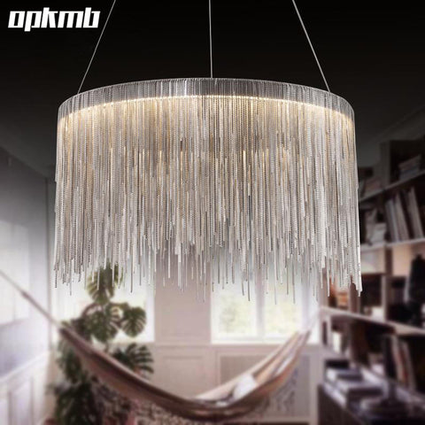 Simple aluminum tassel led hanging chandelier light really cool simple aluminum tassel led hanging chandelier light aloadofball Choice Image