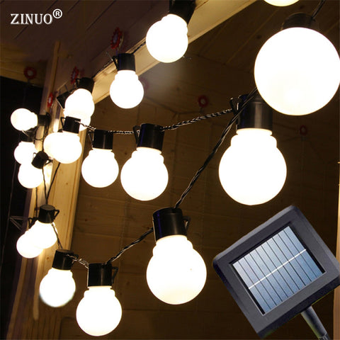 2.5M Garden Light Solar Powered 10pcs 5CM Big Size Ball Fairy Solar String Outdoor Garden Garland IP65 Waterproof