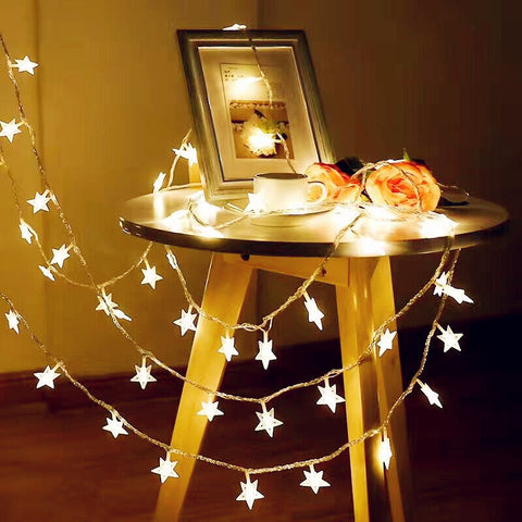 Holiday Light 1.5M 3M 6M 10M LED Star String Lights 10 20 40 80 LEDS Waterproof Outdoor AA Battery LED Christmas Decoration