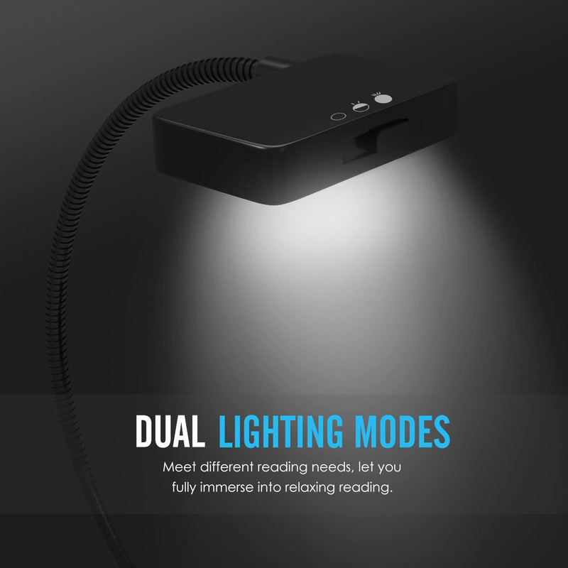 Compact Dual LED Book clip on light or Reading Light