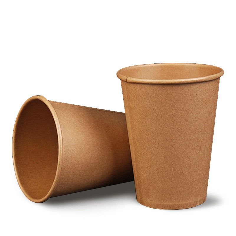 Paper Coffee Cup Disposable Paper Cup With Lid Cover