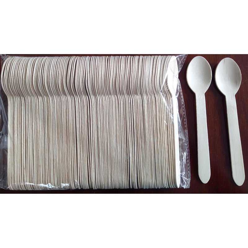 150pcs Wooden Forks Spoons Cutters Set Disposable Wood Cutlery Utensils Tableware
