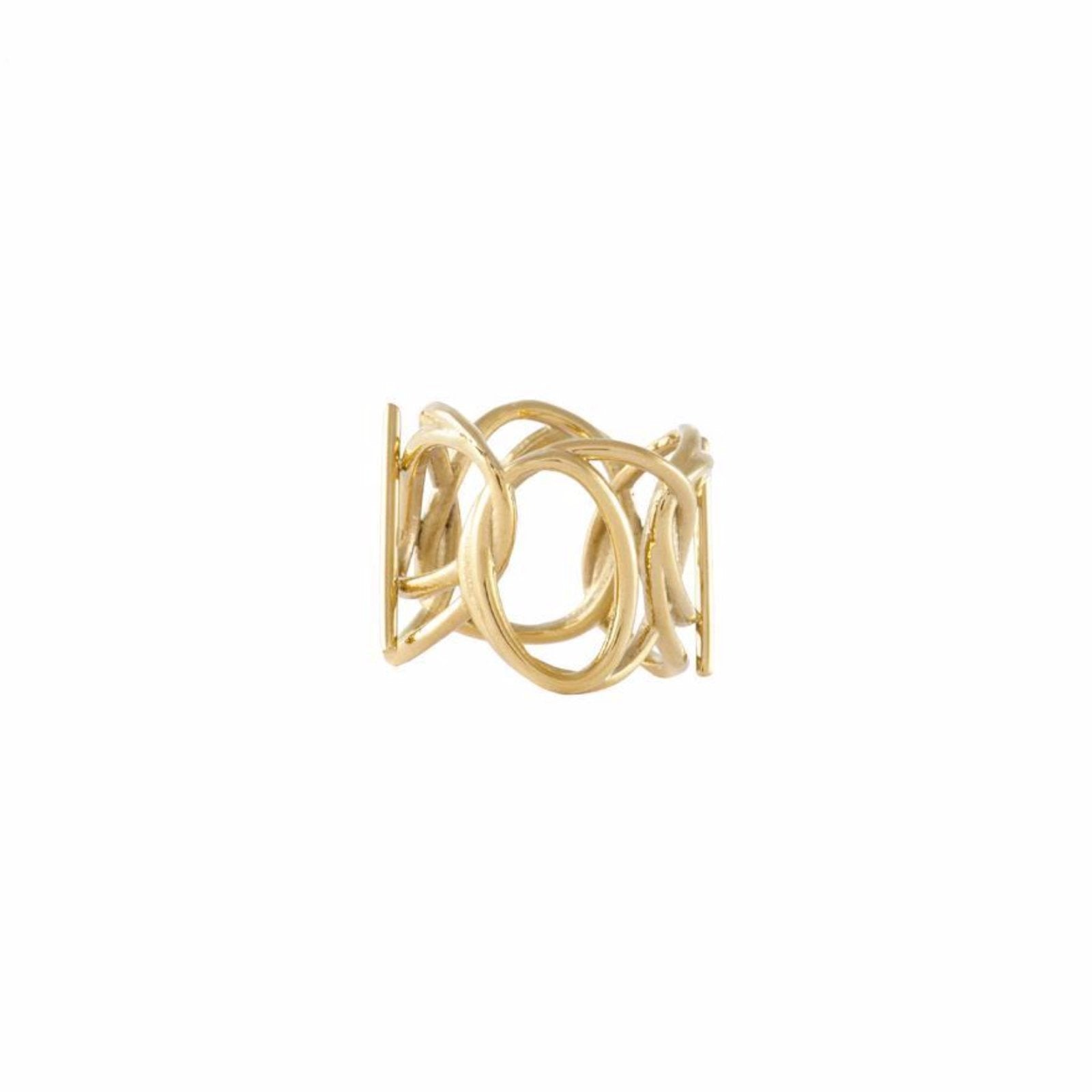 Intertwined | Silver or Gold | Chunky Ring