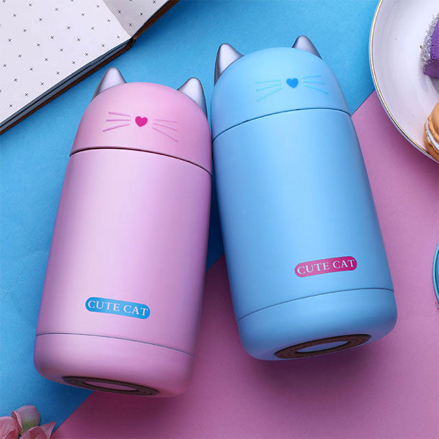 CUTE CAT THERMO MUGS (PAIR)
