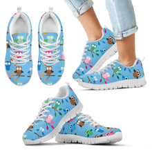 Give a Hoot Blue Kid's Sneakers