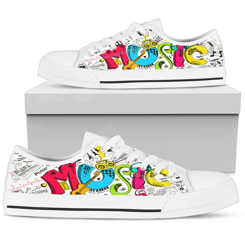 Music Graffiti Men's Low-Tops
