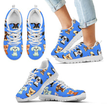 Cat-Dog Blue Kid's Sneakers (3 Colors)