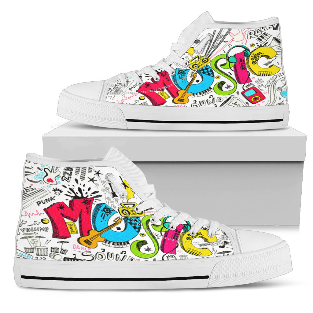 Music Graffiti High-Tops Men's