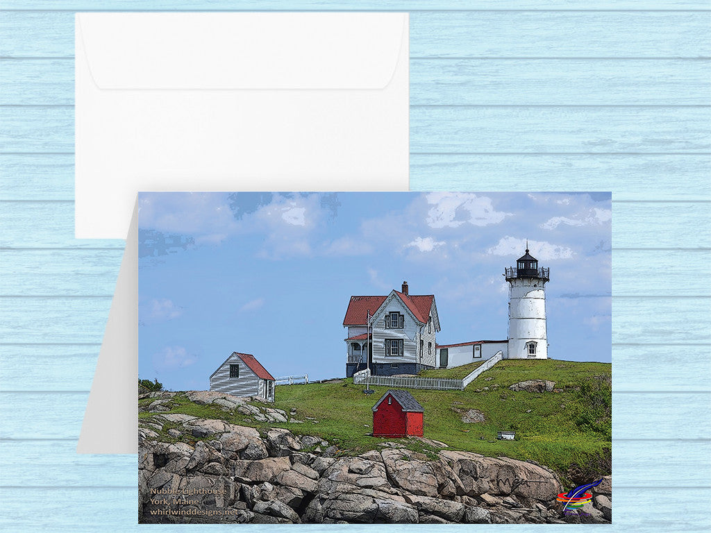 Nubble Lighthouse Note Card