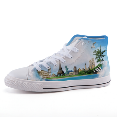 Go Everywhere!  High-top fashion canvas shoes