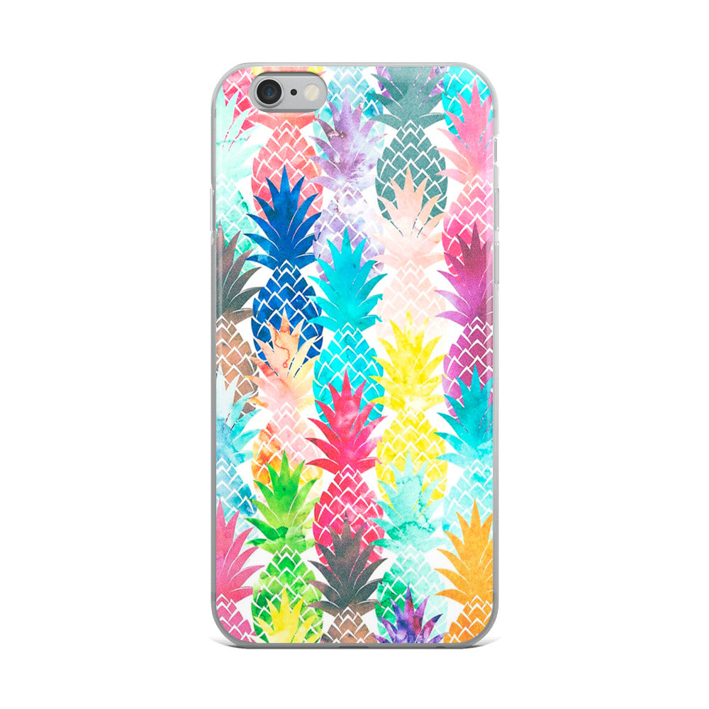 Multi-colored Pineapples iPhone Case