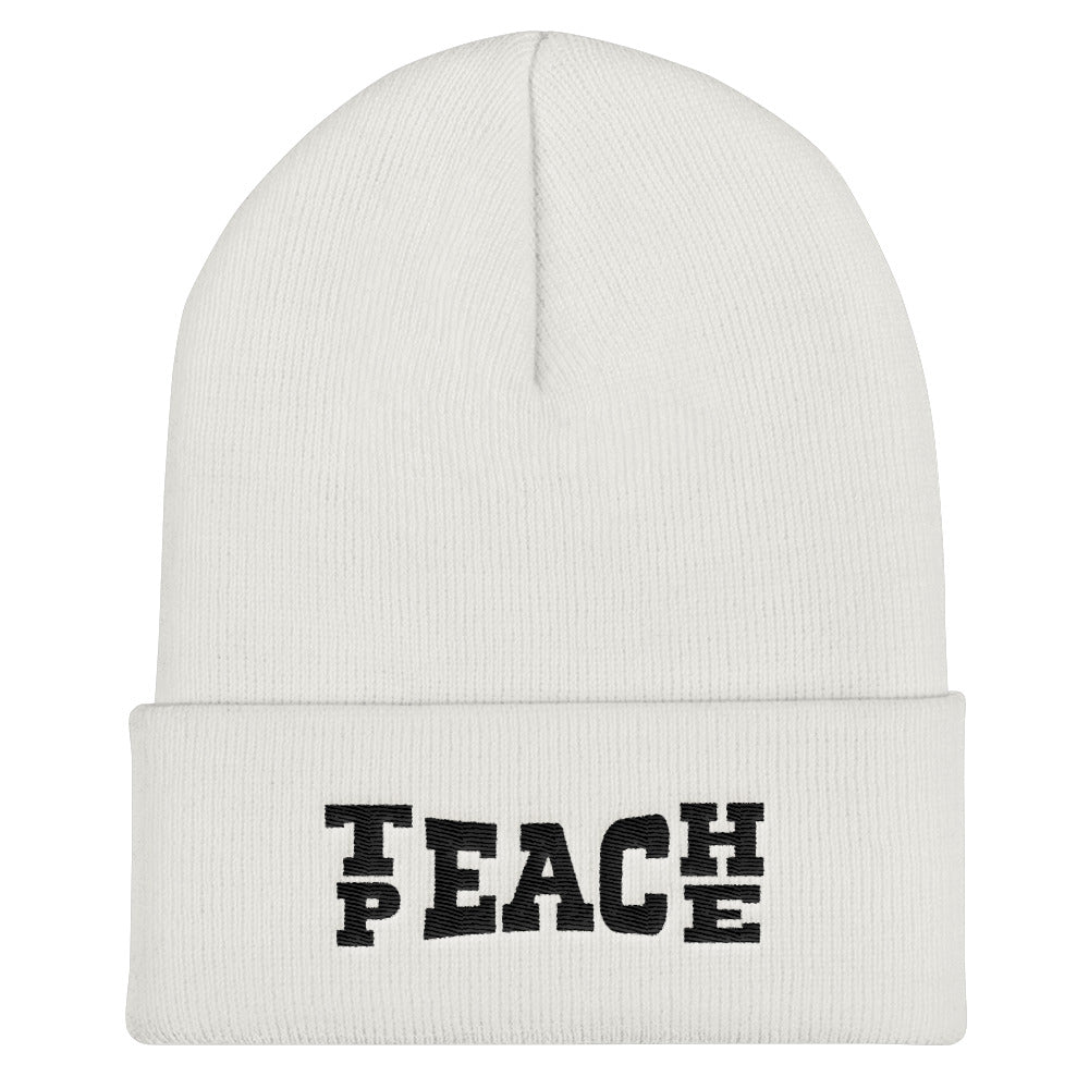 iTeach Peace Cuffed Beanie Hat