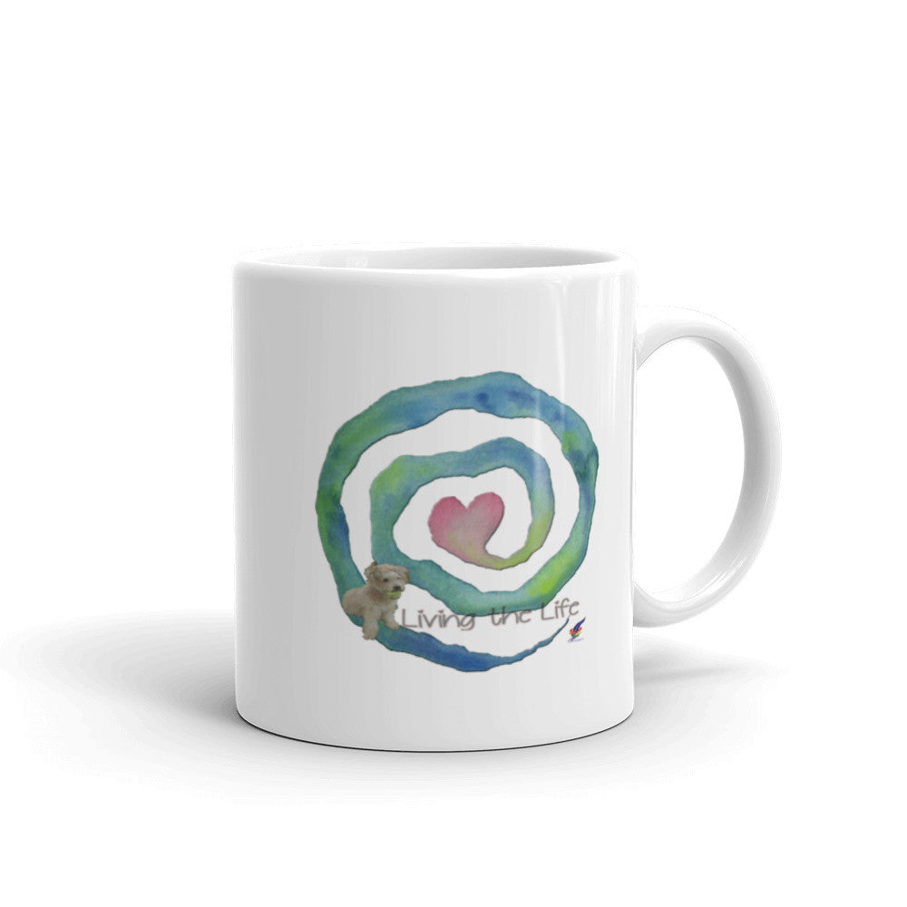 Living the Life Heart Spiral Mug