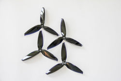 "Gemfan Flash 5552 5.5"" 3-Blade Props (2CW+2CCW) - PC - Black"