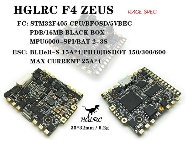 *SALE* - HGLRC - F4 Zeus FC + ESC All-in-one (20x20)