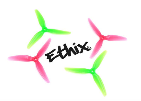 "HQ Ethix S3 Watermelon 5"" 3-BLADE PROPS (2CW+2CCW) - PC"