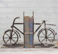 Old Style Rustic Metal Bicycle Bookends