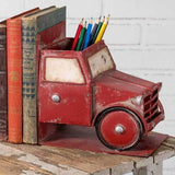 Red Pickup Truck Bookends