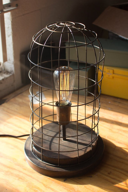 Wire Cage Desk Lamp