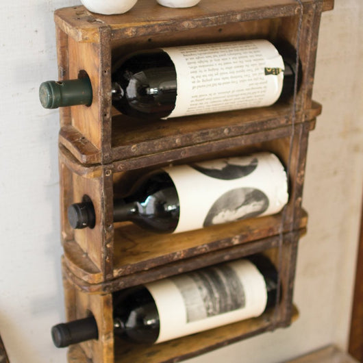 Antique Brick Mold Wine Rack