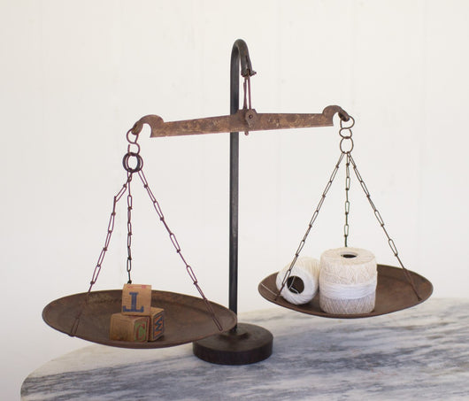 Antique Metal Balance Scale