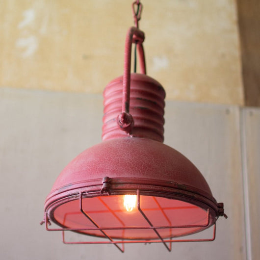 Antique Red Pendant Light