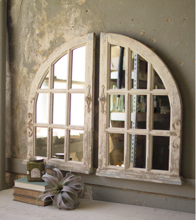 Arched Window Pane Mirrors