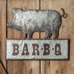 Metal Pig Bar-B-Q Wall Sign