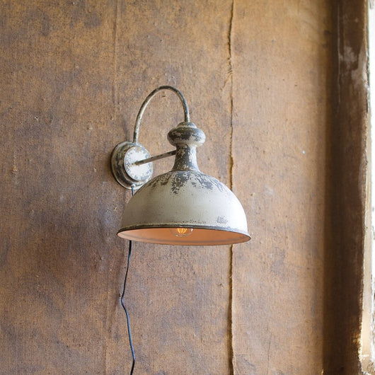 Vintage Gooseneck Warehouse Factory Wall Sconce