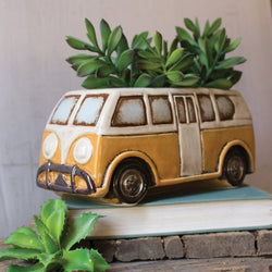 VW Volkswagon Bus Planter Hippie Van