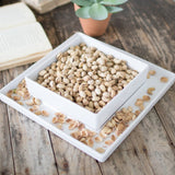 White Ceramic Pistachio Nut Dish Tray