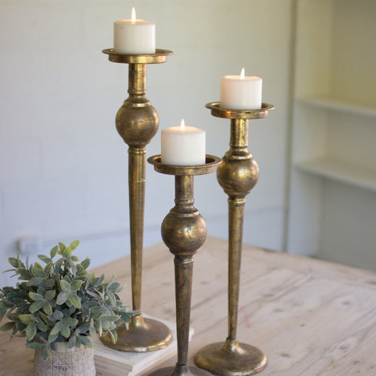 Brass Candle Sticks Stands Holders Set of 3