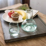 Clear Glass Water Carafe And Drinking Glass
