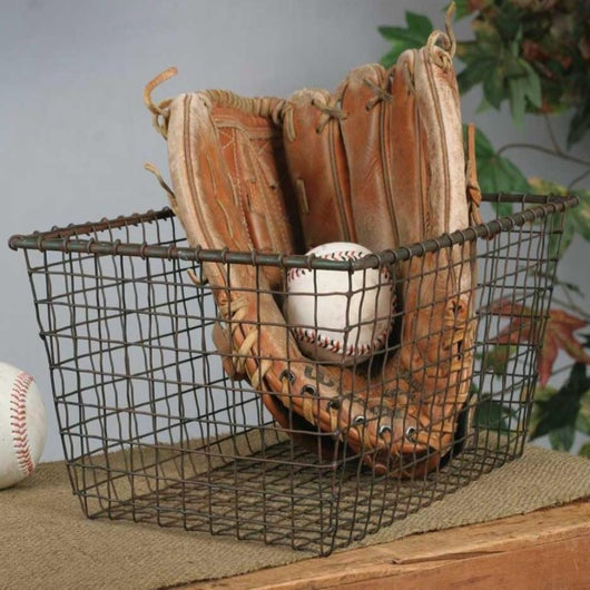 Locker Room Style Wire Storage Basket