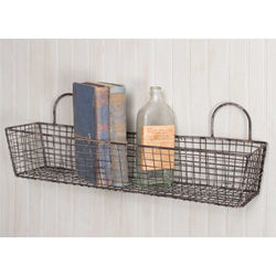 Set of 2 rectangle wire baskets made to resemebe a French Bakery Basket.