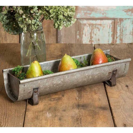 Galvanized Metal Chicken Feeder Planter, Chicken Feeder Trough, Chicken Feeders, Garden Decor