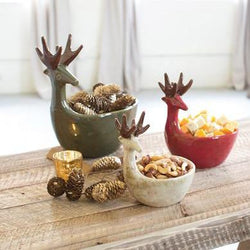Reindeer Serving Bowl Set