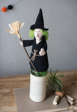 witch wine bottle topper