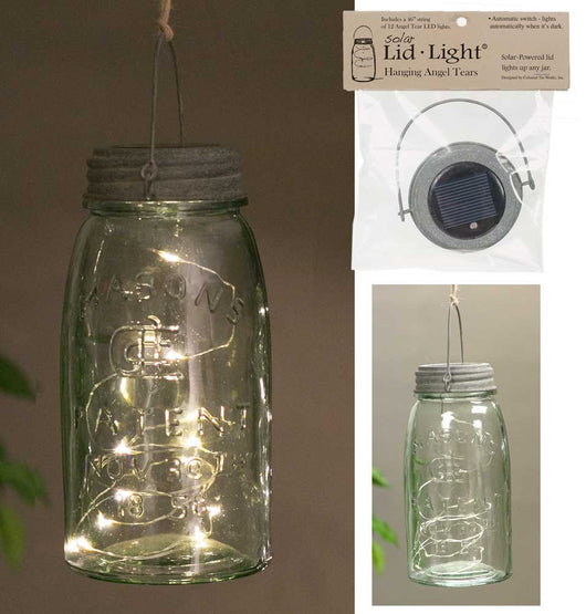 Hanging Solar Lid Lights - Angel Tears - Pack of 4
