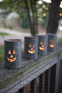 Tin Jack O Lantern Luminaries
