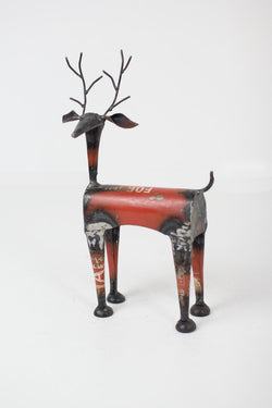 Red Metal Reindeer - Set of 2