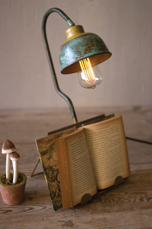 Vintage Desk Lamp  With Book Holder