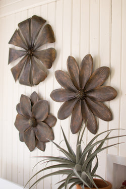 Large Rustic Metal Flowers