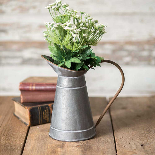 Narrow Metal Milk Pitcher
