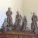 Handcrafted Driftwood Nativity Set