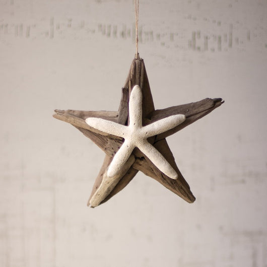 Driftwood Starfish Ornament - Set of 4