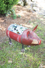 Recycled Metal Pig Cooler Planter