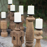 Wooden Furniture Leg Candle Holders.