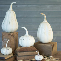 White Metal Pumpkins