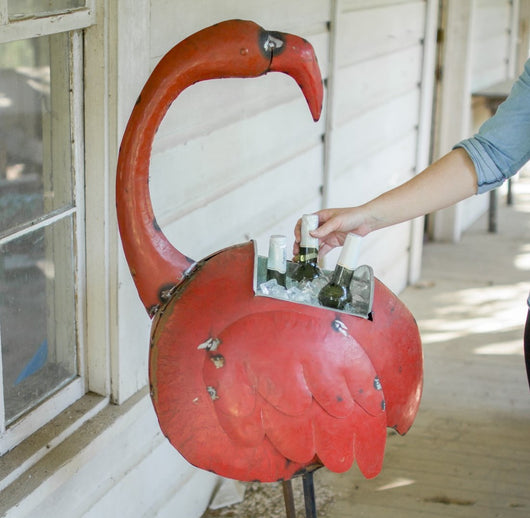 Red Reclaimed Flamingo Cooler